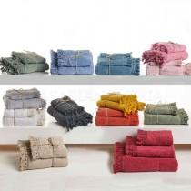 Coppia asciugamani di spugna Creole Vichy