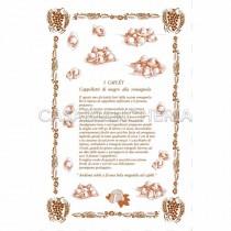 Strofinaccio stampa romagnola Ricette Cappelletti 60x90 cm
