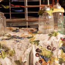 Tovaglia di lino Tessitura Toscana Doucers