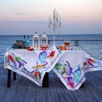 Tovaglia di lino Tessitura Toscana Galapagos