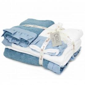 2 coppie asciugamani di spugna Creole Galetta