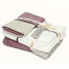 2 coppia asciugamani di spugna Creole Lino Profilo