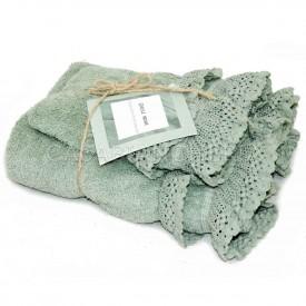 Coppia asciugamani di spugna Creole Tolosa