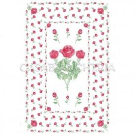 Strofinaccio stampa romagnola Rose 60x90 cm