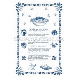 Strofinaccio stampa romagnola Ricette Tagliatelle 60x90 cm