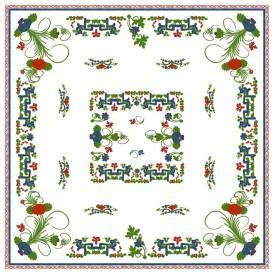 Tovaglietta centrotavola stampa romagnola Garofano di Faenza 90x90